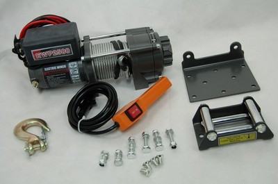 winch electric quad ATV 2500kg 12V