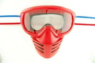 0176b87e49a4 goggles for moto ENDURO, FACE SHIELD red