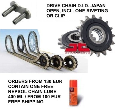 Chain kit BMW F850 GS 18-19 DID Japan VX3 gold RB